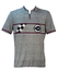 Grey Marl Cycling Top with Black & White Checkerboard Graphic & Trompe L'Oeil Zip Detail - M/L
