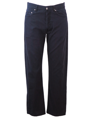 """Stone Island Navy Blue Trousers - 32"""""""