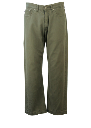 "Polo Ralph Lauren Khaki Green Jeans - 33"""