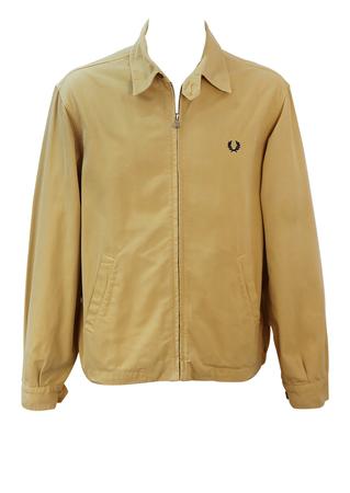 Fred Perry Sand Colour Harrington Jacket - L/XL