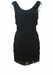 Black Sleeveless Bodycon Flapper Tassel Mini Dress - XS