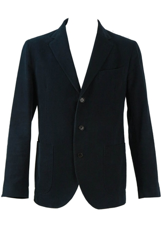 Henry Cottons Navy Brushed Cotton Jacket - M/L