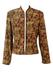 Brown Jacket with Orange, Green & Ochre Baroque Pattern - L