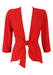 Orange Red Tie Front Jacket with Curved Hem - S/M