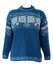 Genuine Norwegian Pure Wool Blue Jumper with Snowflake Pattern - M/L
