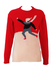 Vintage Kappa Red & White Lambswool Jumper with Ice skater Imagery - M