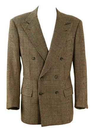 Kiton 100% Cashmere Prince of Wales Check Blazer - L