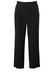"""Black Pleat Front Fine Pure Wool Trousers - W31"""""""