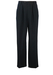 Black Fine Pinstripe Wool Trousers with Pleat Front & Turn Ups - 31""