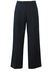 """Navy Blue Pleat Front Wool Trousers - W35"""""""