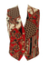 Red, Navy, Camel & Grey Equestrian & Paisley Patterned Waistcoat - M
