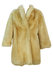 Super Thick Natural Cream Coloured Shearling Coat - S/M
