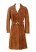 Vintage 60's Dark Camel / Tan Coloured Suede Trench Coat - M