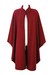 Cherry Red Wool Cape Coat with Braided Edging - M/L