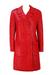 Vintage 60's Wet Look Red Textured PVC Coat - S/M