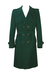 Vintage 70's Bottle Green Pure Wool Trench Coat - L