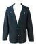 Geiger Mottled Grey, Felted Wool Jacket with Green Braiding - L/XL