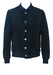 Navy Blue Suede Bomber Jacket - S/M
