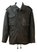 Brown Leather Jacket with Multi Pockets - L/XL