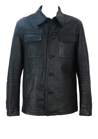Diesel Black Leather Jacket - M/L