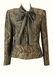 Tailored Jacket with Taupe Pussy Bow and Grey, Brown & Metallic Gold Paisley Pattern - M