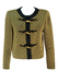 Sparkly Gold & Black Oriental Style Lightly Quilted Jacket with Decorative Gold Toggles - M