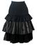 Grey, Black & Gold Multi Fabric Ruffled Ra Ra Midi Skirt - S