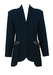Navy Blue Fitted Jacket with Decorative Gold & Blue Jewel Pockets - S/M
