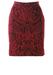 Dolce & Gabbana Rococo Patterned, Burgundy Above the Knee Velvet Textured Skirt - S/M