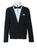 Vintage Kappa Track Jacket with a Black & White Tuxedo & Bow Tie Design - L