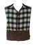 Levis Chunky Black & White Check Gilet with Leather Detail - L