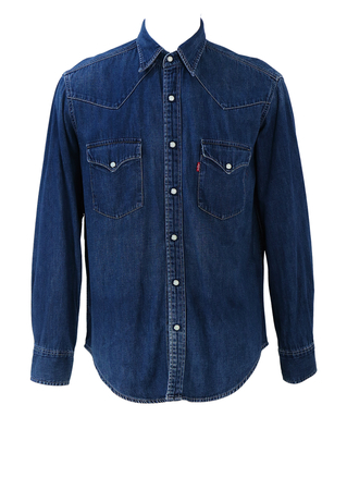 Levi's Barstow Western Standard Blue Denim Shirt - M/L