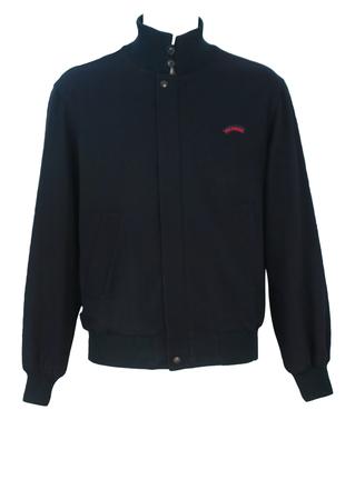 Paul & Shark Navy Blue Wool Bomber Jacket - M/L