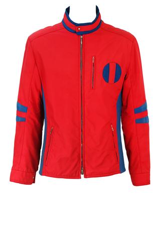 Vintage 70's Red and Blue Ski Jacket - M