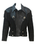 Vintage 90's Black Suede & Leather Western Style Jacket with Fringe Detail - S/M