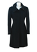 Max Mara, Max & Co Fitted Black Coat with Ribbed Panel Detail - M