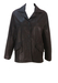 Vintage 90's Dark Brown Leather Box Jacket - 90's Box Shape M / Fitted L