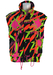 Elko Ski Gilet with Black and Neon Pink, Yellow & Orange Pattern -