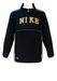 Nike Black & Grey Fleece Lined Pullover Jacket with Large Logo & Pocket Detail - M/L
