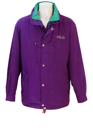 Fila Magic Line Double Jacket in Purple and Green - L/XL