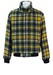 Australian L'Alpina Blue, Yellow & White Checked Bomber Jacket - L/XL