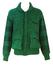 Wool Knit Bomber Jacket with Mottled Green & Blue Pattern - M/L