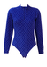 Fila Long Sleeved Fleece Bodysuit with Two Tone Blue Geometric Pattern - M
