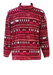 Kappa Fleece Top with Aztec Style Pattern in Burgundy, Pink & White - M/L