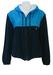 Yves Saint Laurent Navy Blue Towelling Hoody Track Jacket with Blue Waterproof Panel - M/L