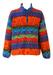 Invicta Multicoloured Ethnic Pattern 1/4 Zip Fleece Top - XL