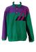 Fila Magic Line Green, Purple and Black Striped Detail Fleece Top - L/XL