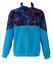 Fila Ski Team Italia Turquoise Blue Fleece Top with Pink, Purple, Green & Blue Graphic Panel Pattern - L