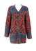 Missoni Sport 3/4 Length Cardigan with Orange, Blue and Cherry Red Abstract Pattern - M/L