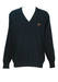 Paul & Shark Yachting Navy Blue V-Neck Jumper with Panel Detail - XL/XXL